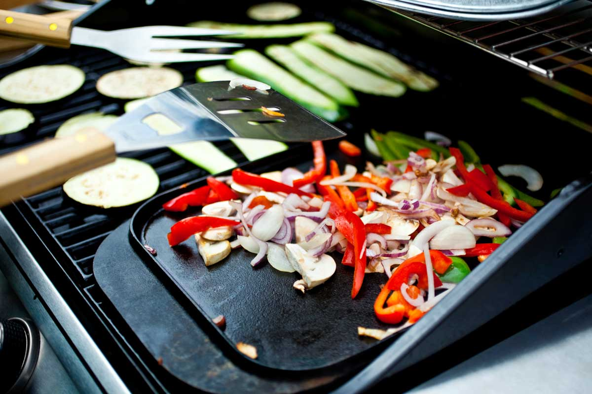 Cooking and grilling BBQ vegetables and spices with griddle, What Can You Cook on a Griddle?