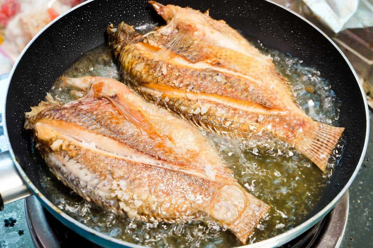 Frying fishes in nonstick frying pan, Can You Reuse Oil After Frying Fish?