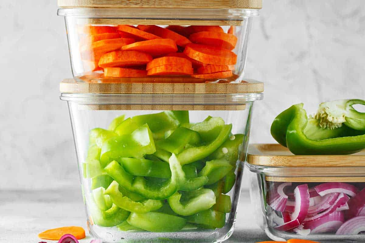 Healthy vegan dishes in glass containers, 13 Types Of Food Containers You Should Know About