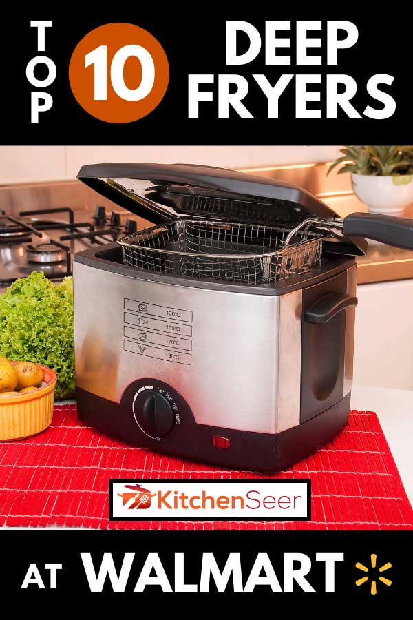 Electric frying pot with potatoes and lettuce, Top 10 Deep Fryers At Walmart