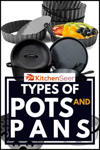 collage of different types of Pots And Pans