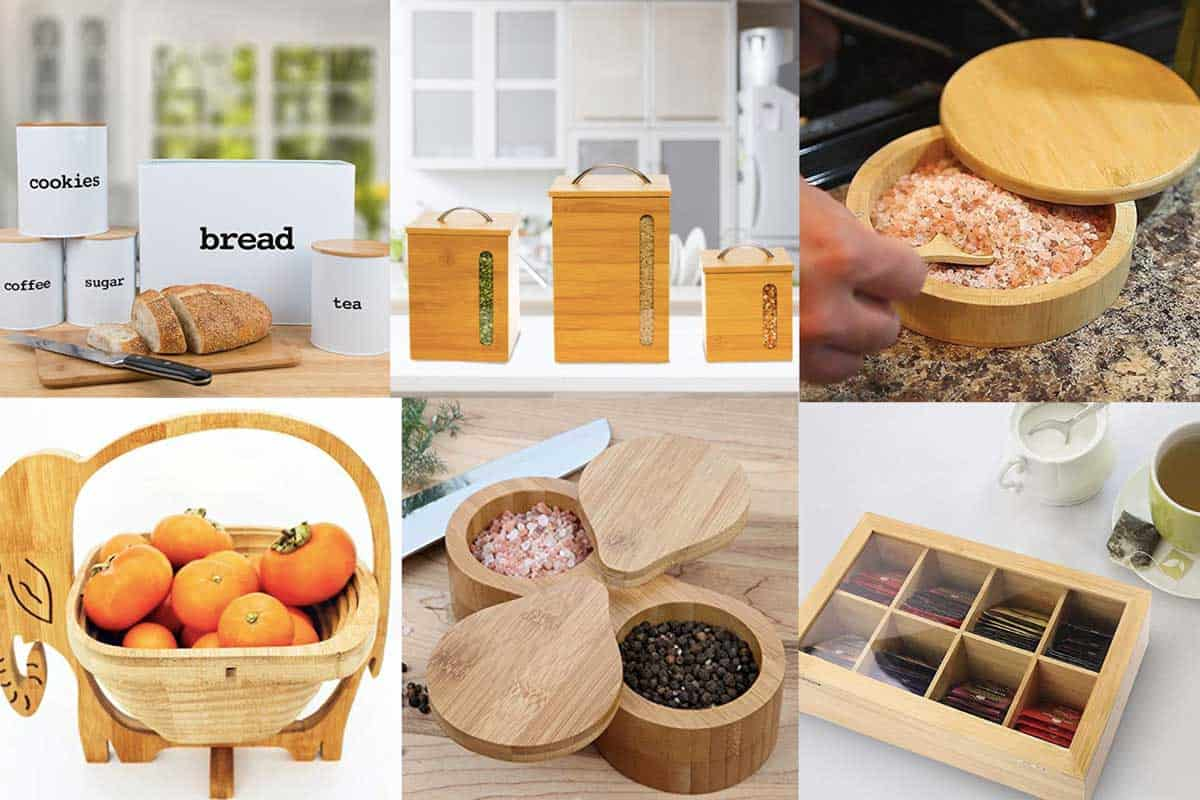 A collage of fantastic bamboo food containers, 10 Fantastic Bamboo Food Containers You Should Check Out