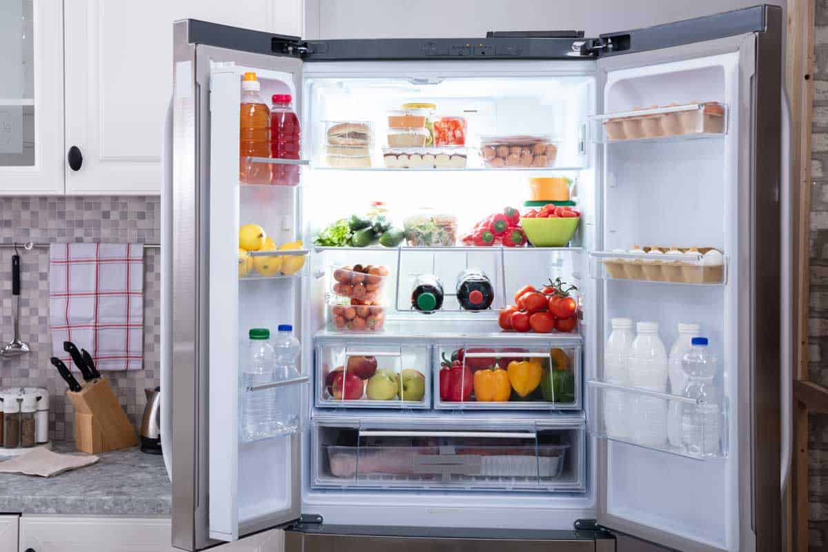 Close-up of an open refrigerator with fruits, vegetables and plastic bottles, Is It Bad to Plug and Unplug Your Fridge?