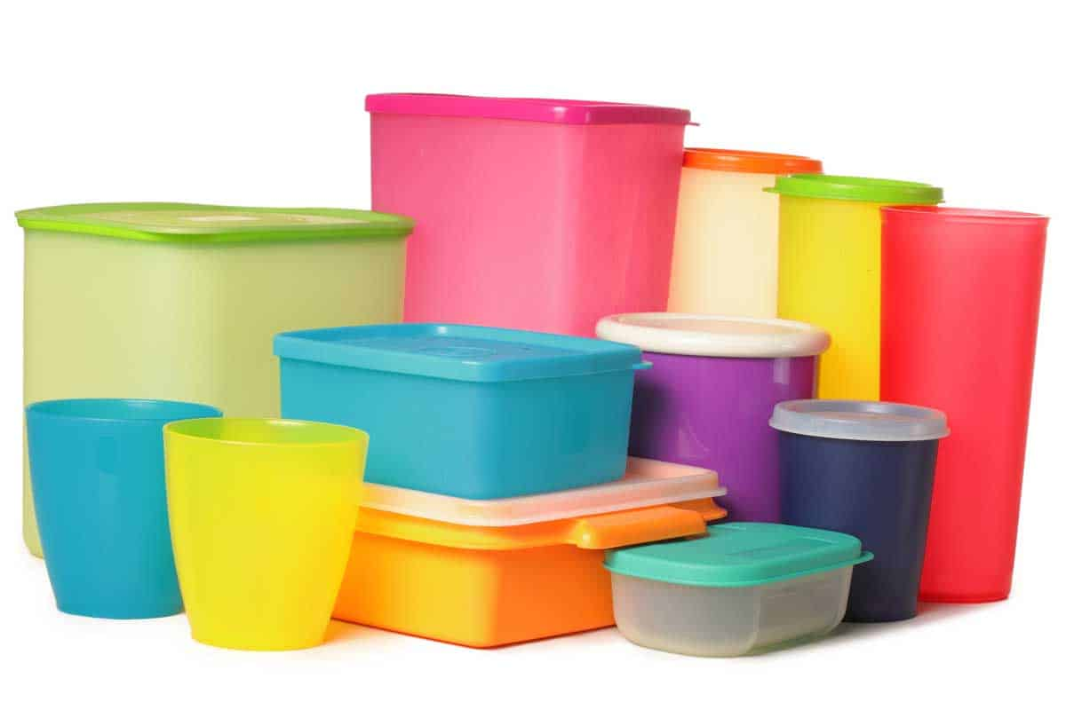 Colorful plastic container over white background, Should You Store Tupperware With Lids On?