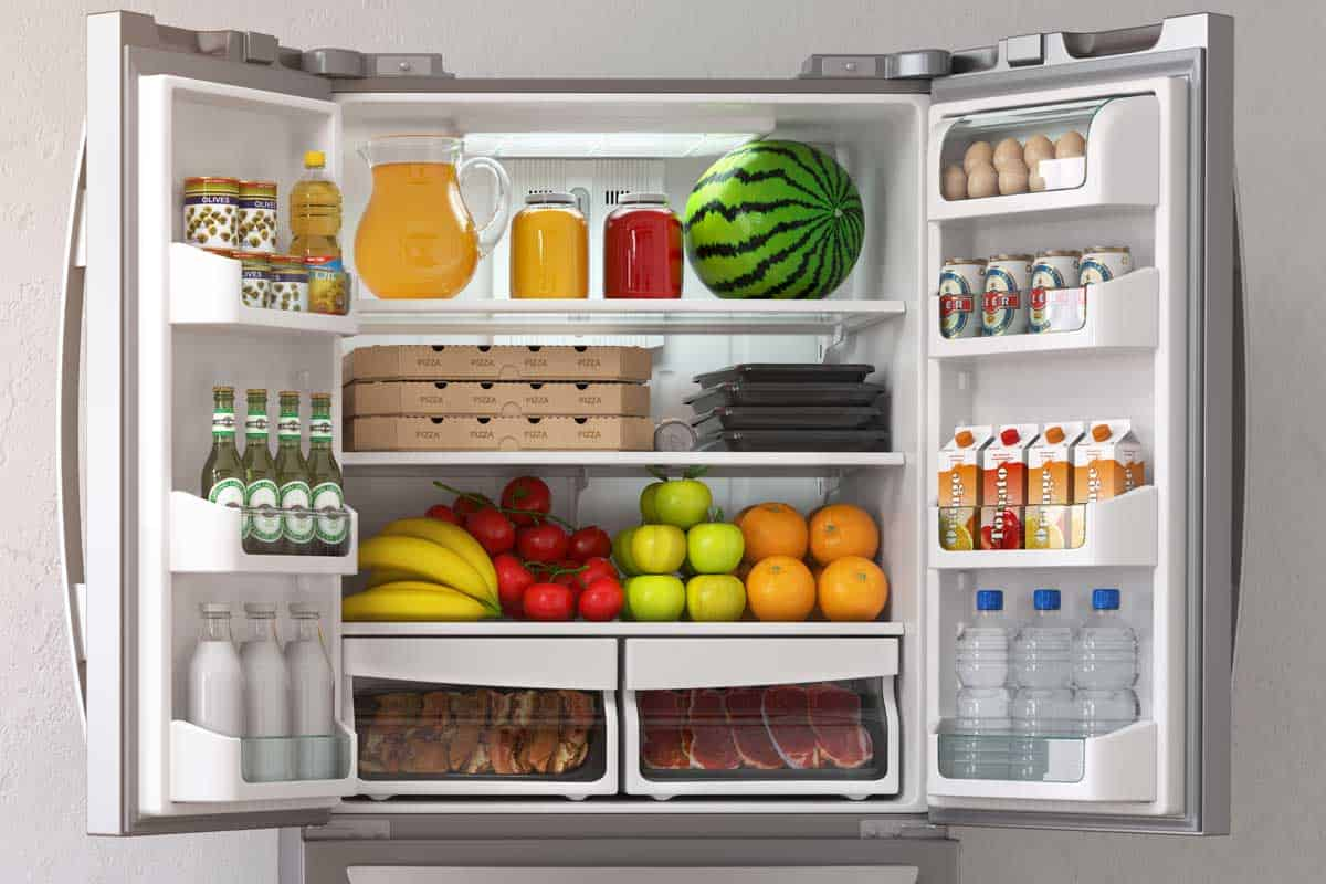 Open refrigerator full of food and drinks, How Do You Measure Refrigerator Liters?