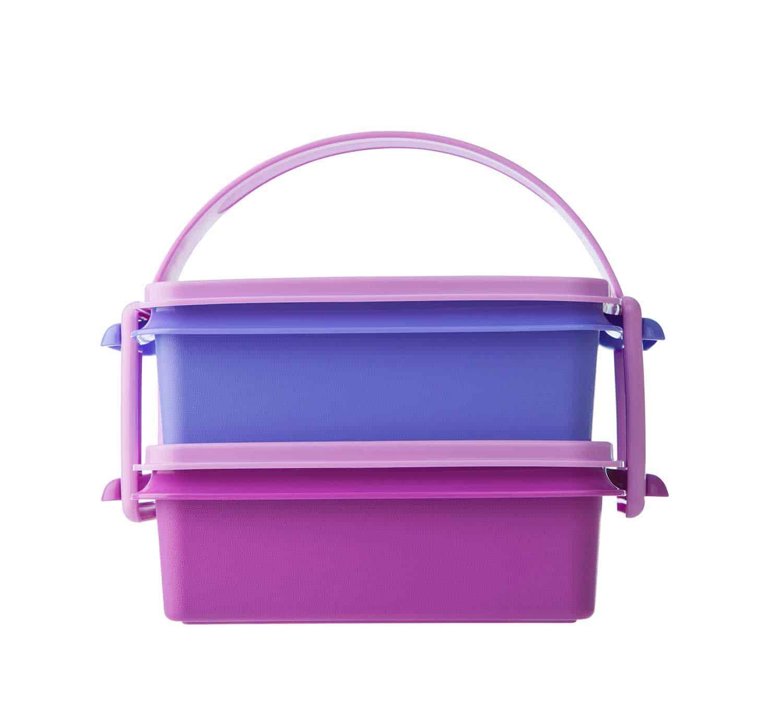 Purple Tupperware lunch box