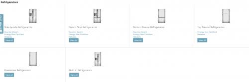 Elite Appliance website page