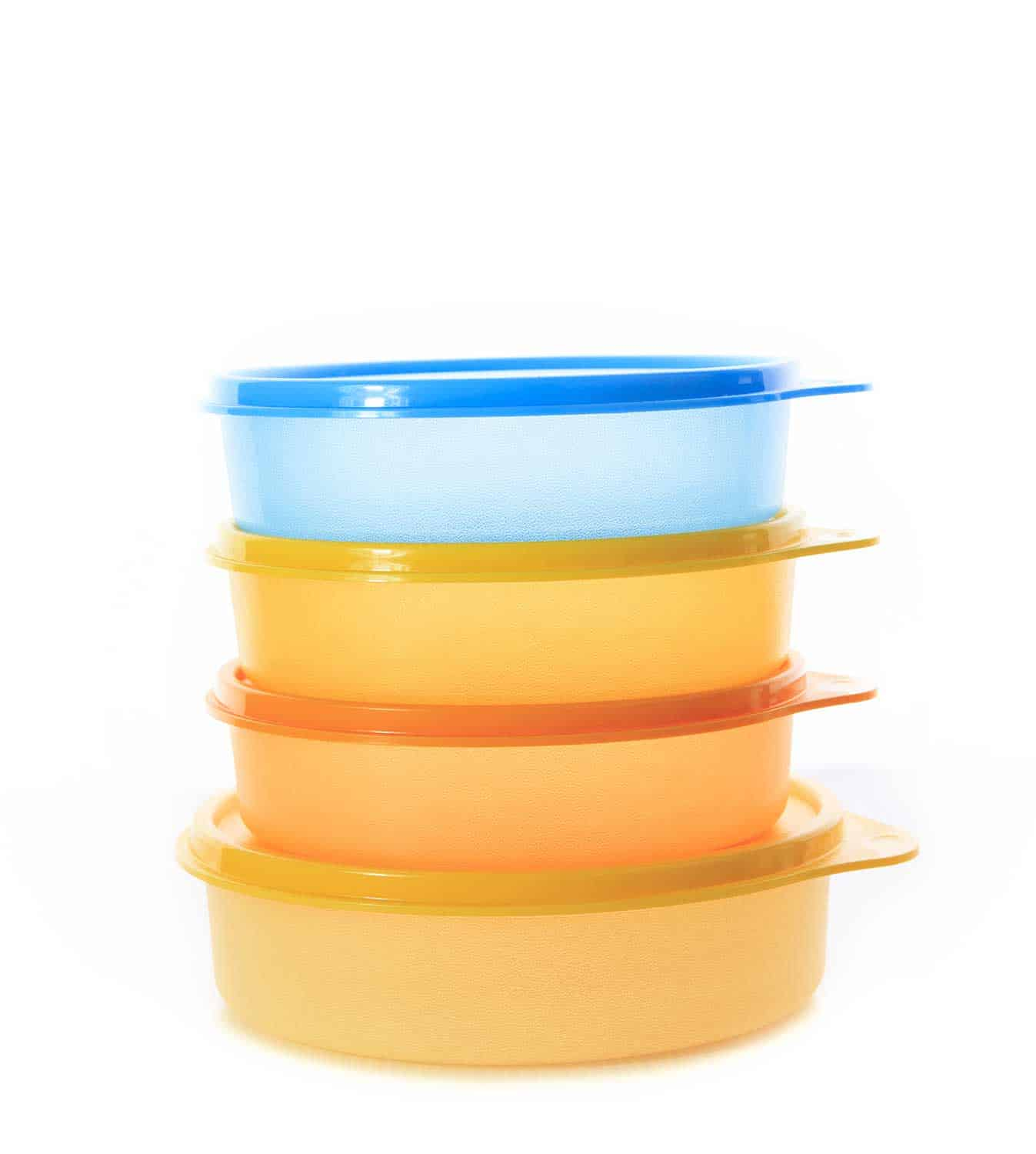 Stack of plastic box package, Tupperware