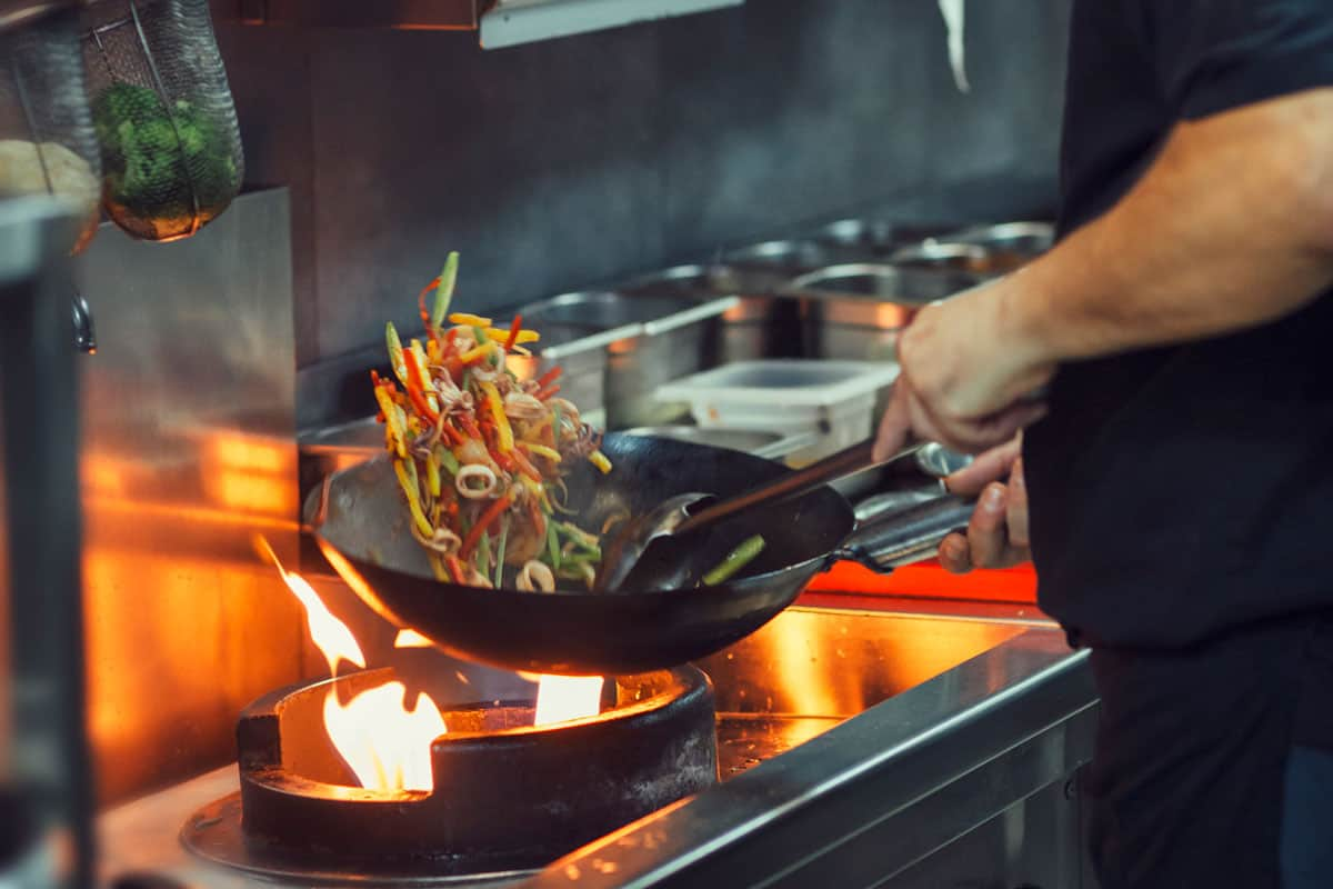 A chef cooking a special dish using a wok, How Much Does A Wok Cost on Average?