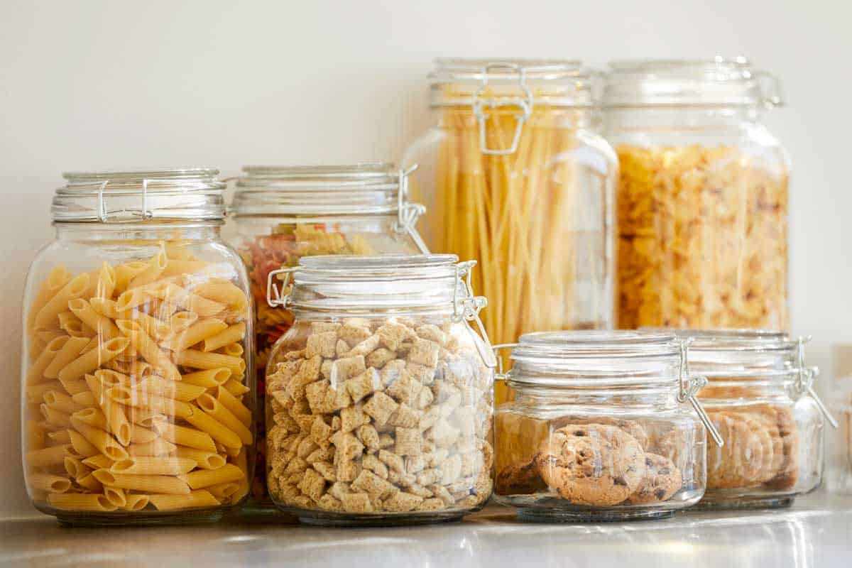 Close-up of food items inside airtight jars, Do Airtight Containers Keep Bugs Out?