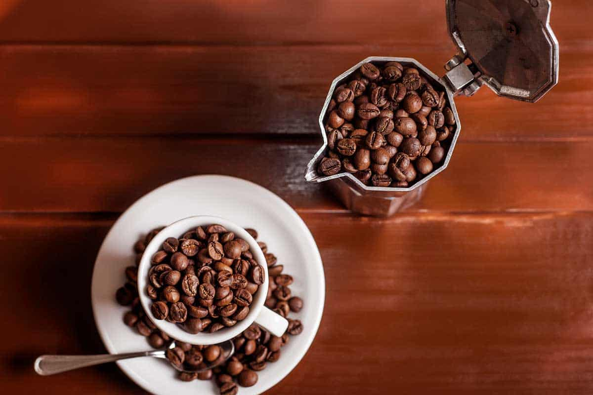 Coffee cup and percolator full of coffee beans, Do You Need a Special Coffee for a Percolator?