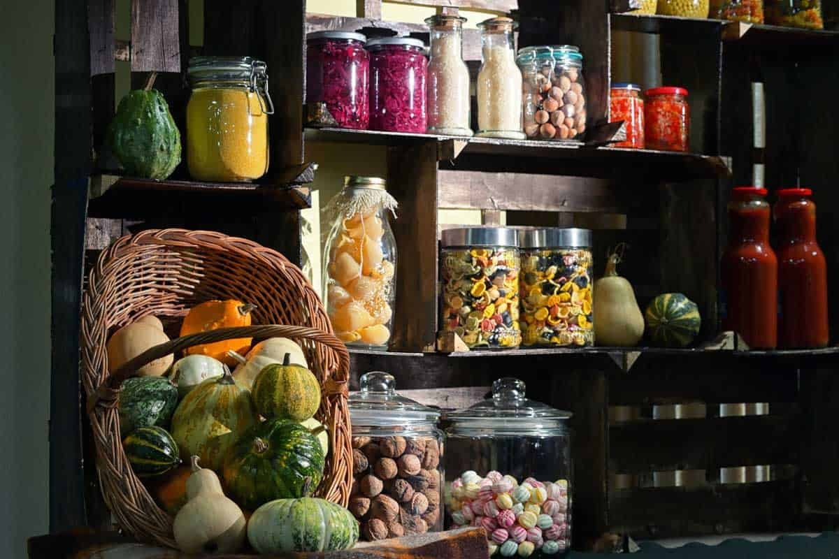 Fall pantry with jars with pickled vegetables, Does a Pantry Have to be in the Kitchen? [4 Alternative Locations Revealed]