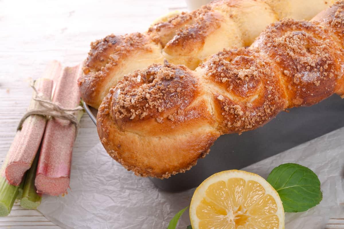 A delicious freshly cooked brioche bread
