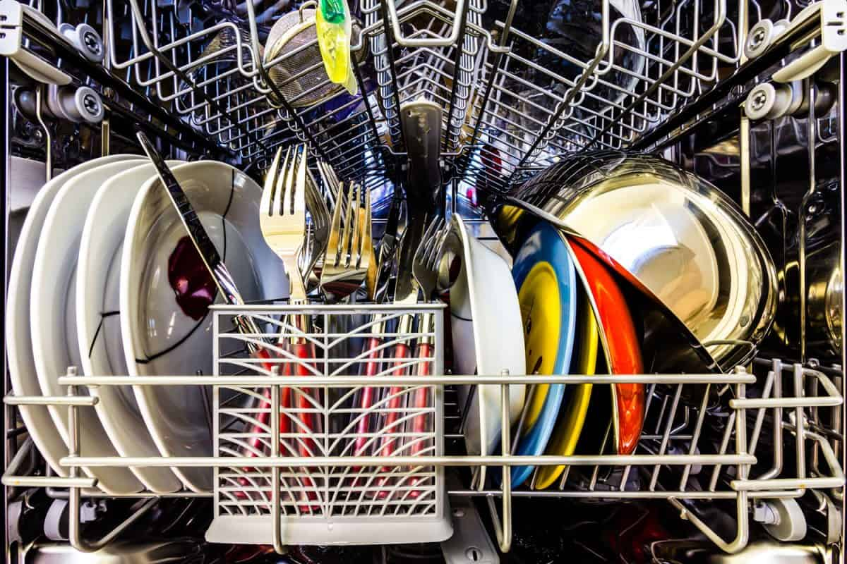 Dish washer full of clean dishes, colorful, How To Winterize A Dishwasher?