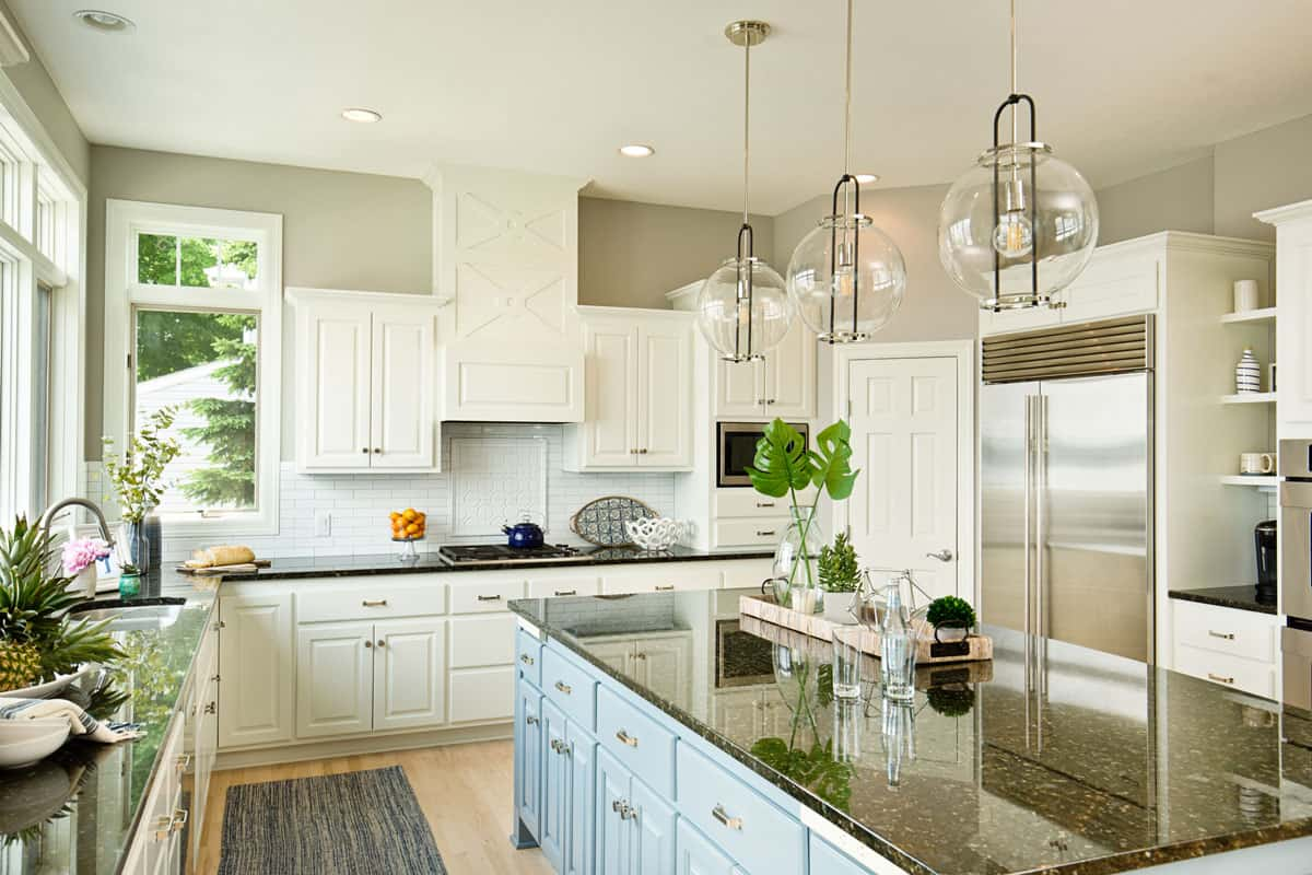 Photo artwork on the counter is taken by me, see property release, Should Kitchen Cabinets Reach The Ceiling?