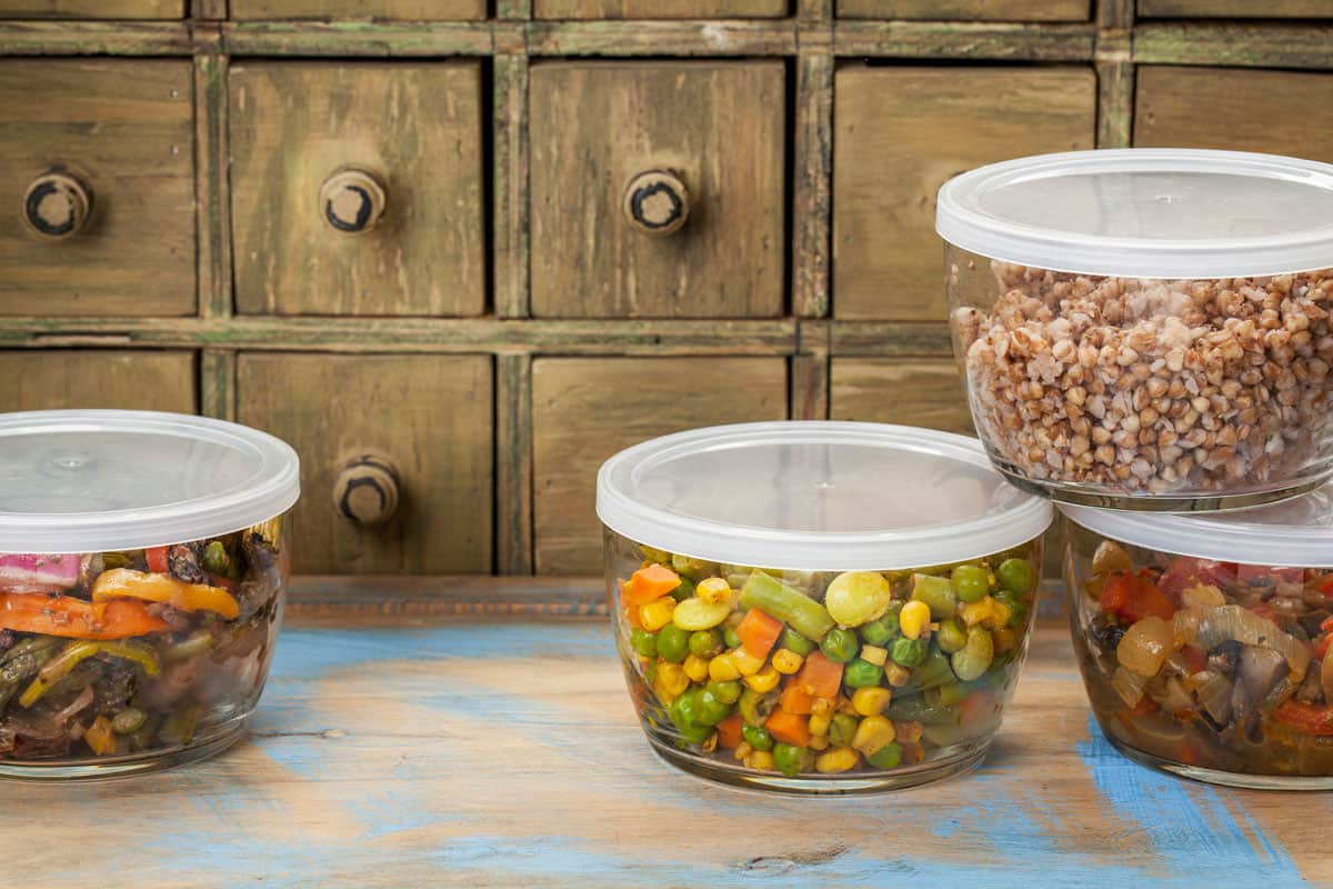 dinner leftovers (buckwheat kasha, vegetables, stir fry) in glass containers, Can You Freeze Food In A Glass Container?