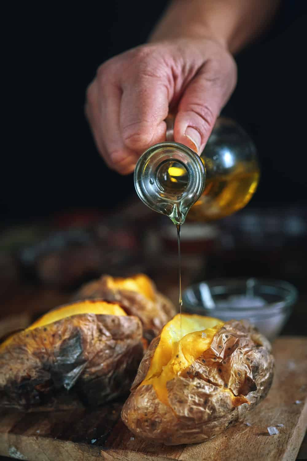 Baked Potato with Sea Salt and Olive Oil