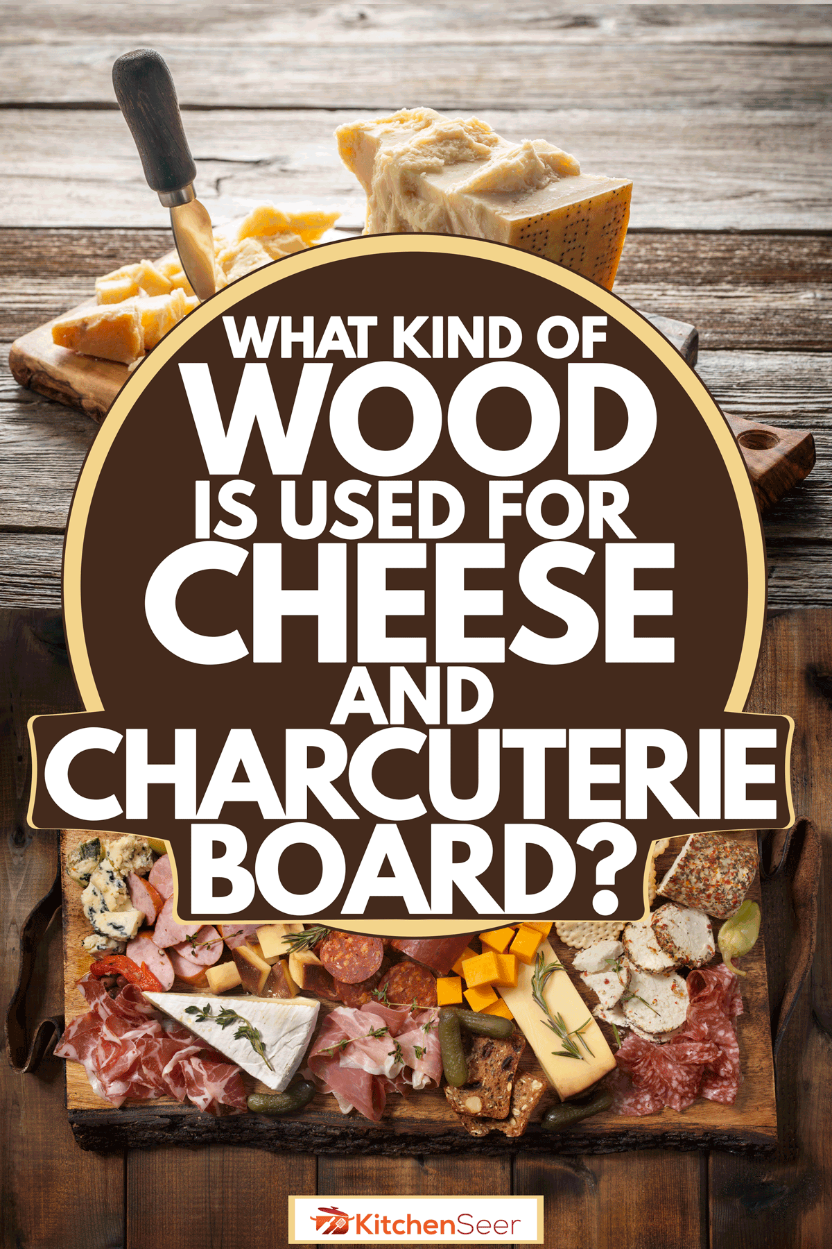 Assorted delicacies on a charcuterie board placed on a scorched wooden table, What Kind of Wood is Used for Cheese and Charcuterie Board?