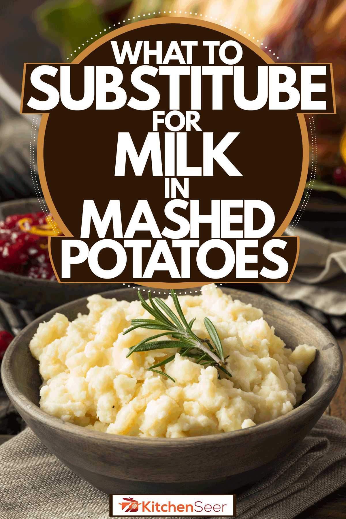 A delicious dish of mashed potatoes on a gray ceramic serving bowl, What To Substitute For Milk In Mashed Potatoes