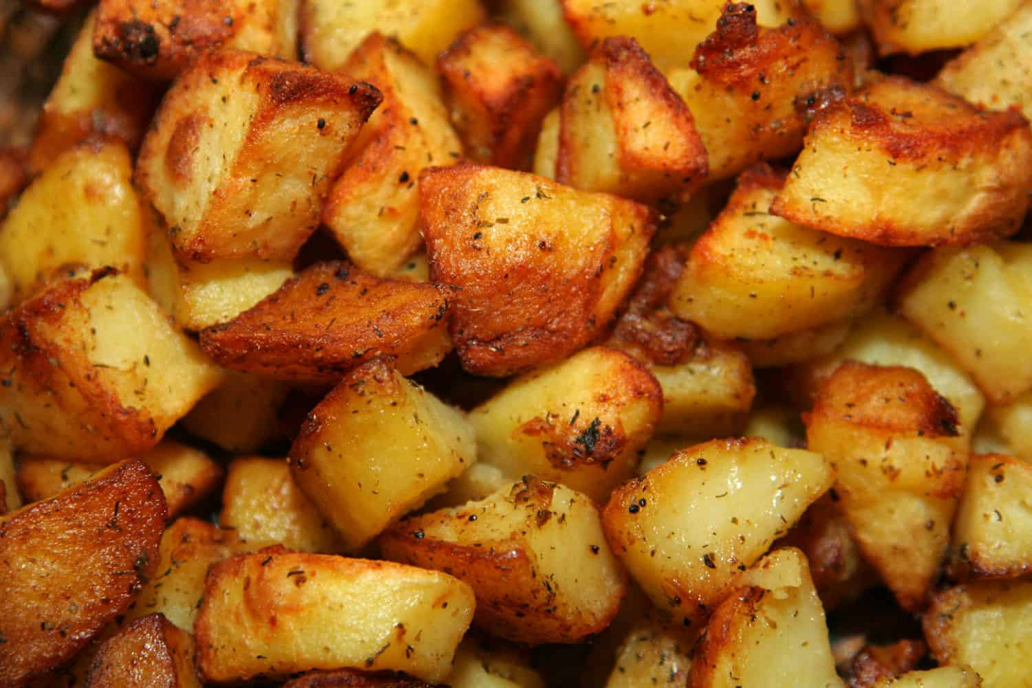 Delicious browned deep fried potatoes