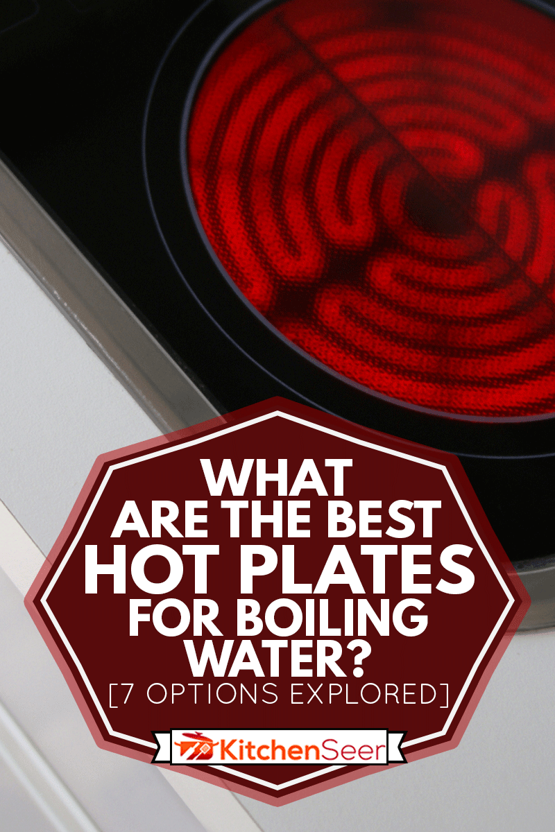 Detailed hotplate on top of a stove, What Are The Best Hot Plates For Boiling Water? [7 Options Explored]