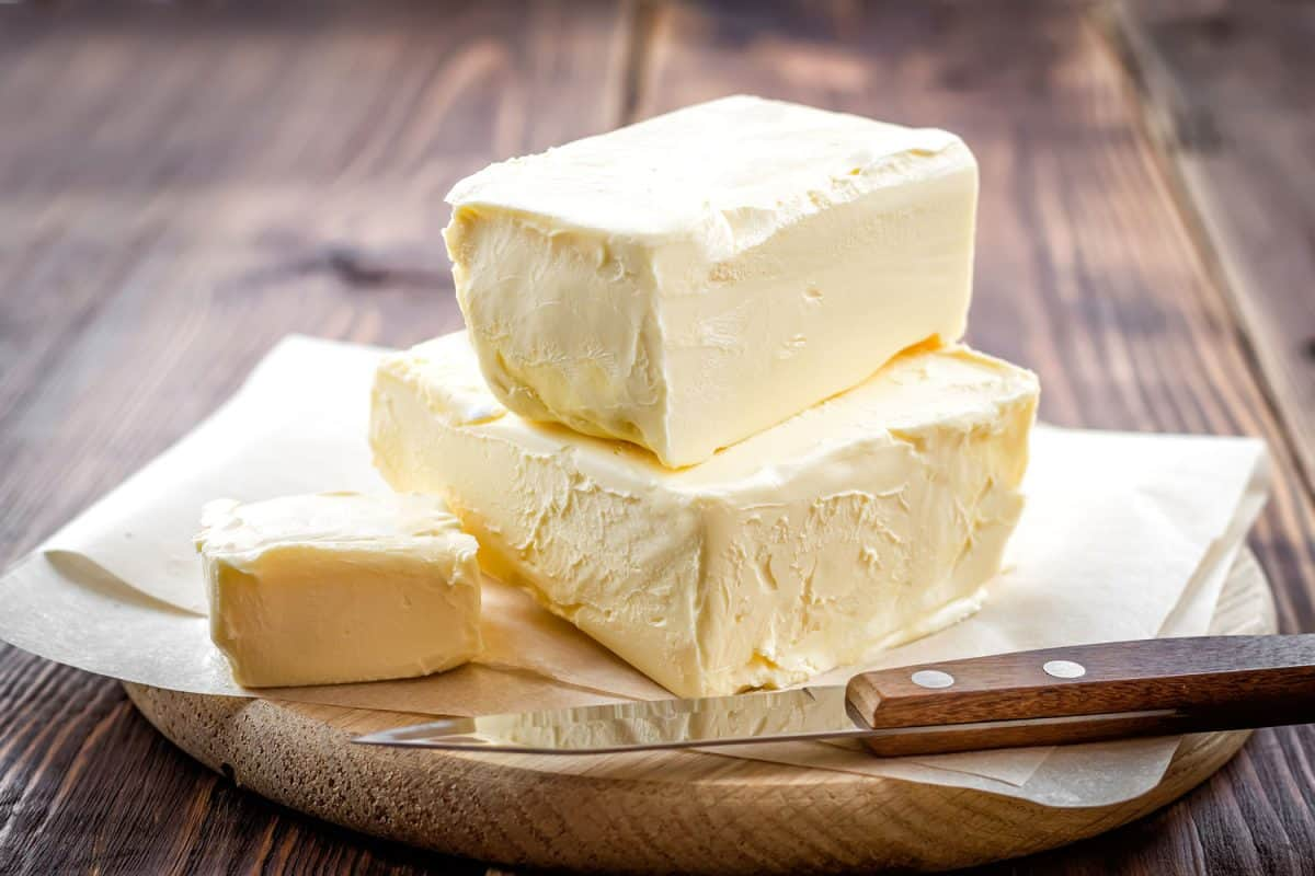 An up close photo of delicious unsalted butter