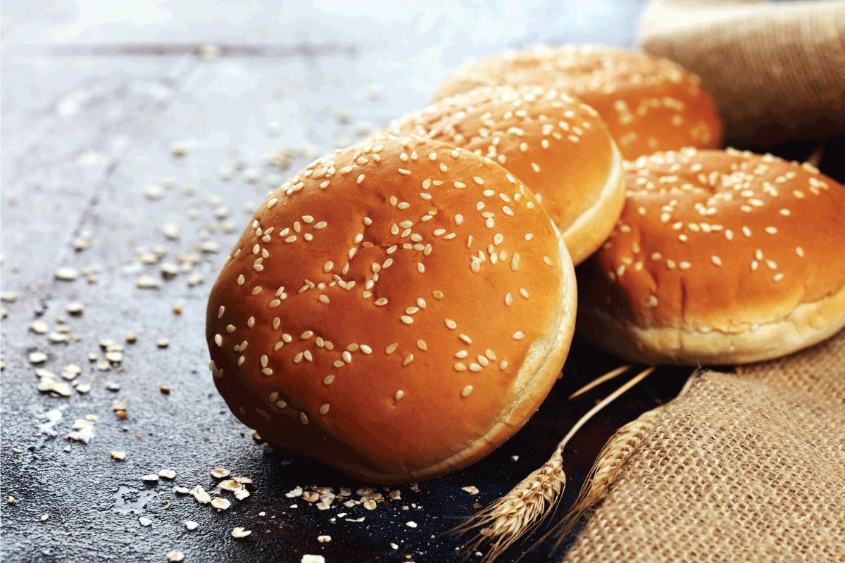 Fresh homemade burger buns with sesame. Should You Butter Hamburger Buns