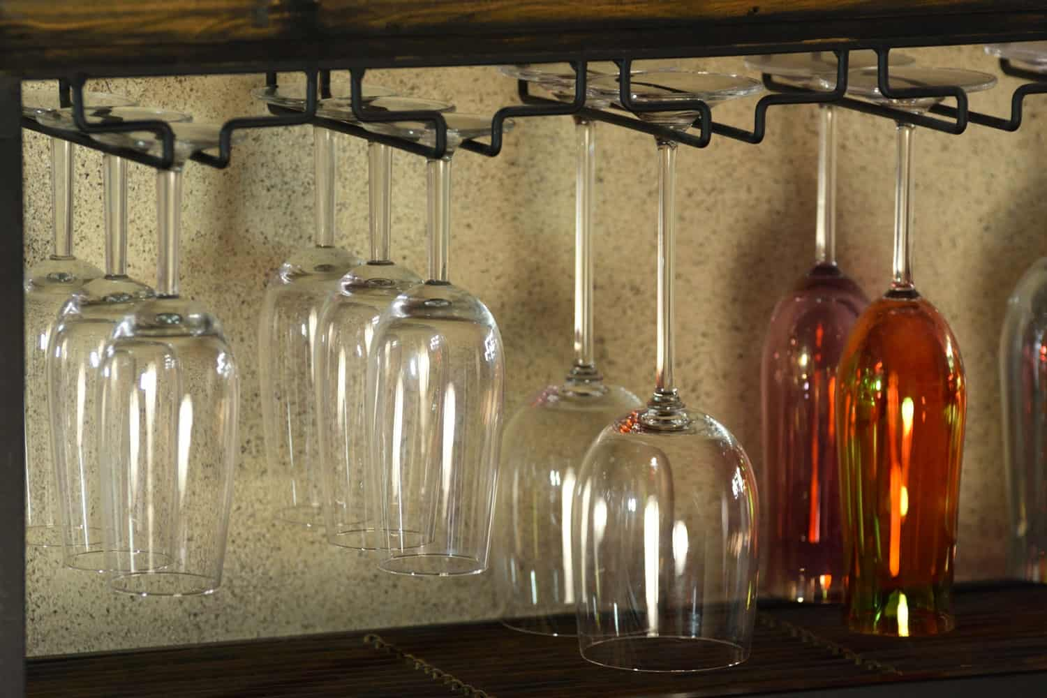 Hanging Wine Glasses Abstract