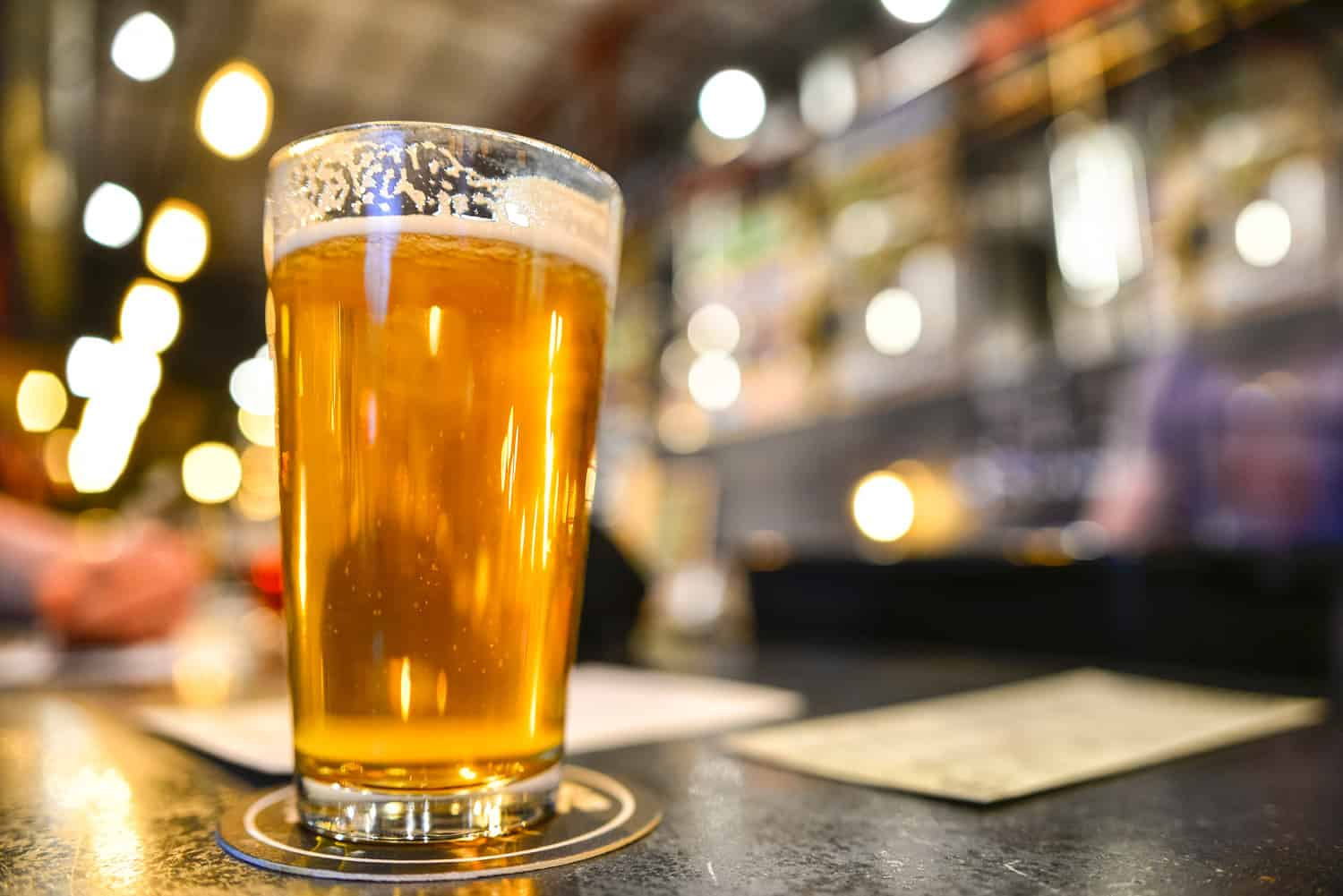 A Pint of Craft Beer on Trendy Brewery Bar