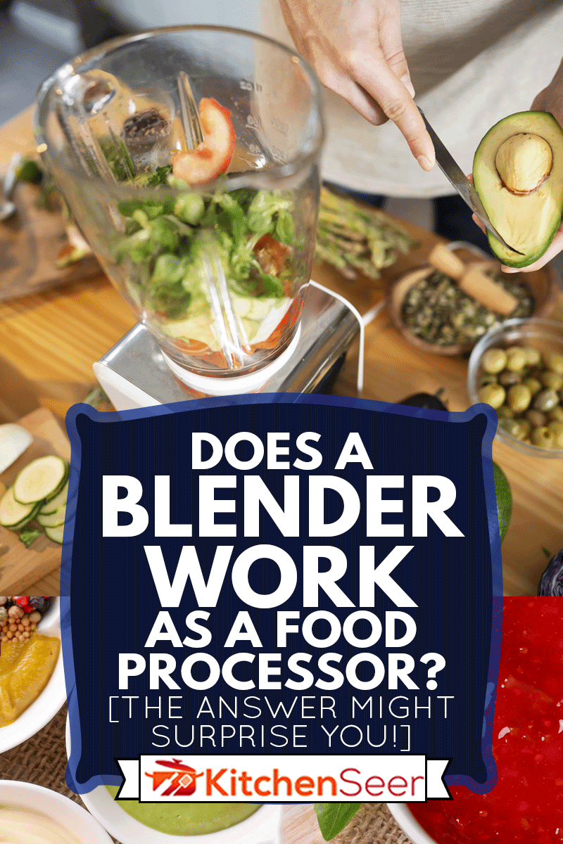 An unrecognizable man putting vegetables into blender, preparing healthy smoothie at his kitchen, Does A Blender Work As A Food Processor? [The Answer Might Surprise You!]