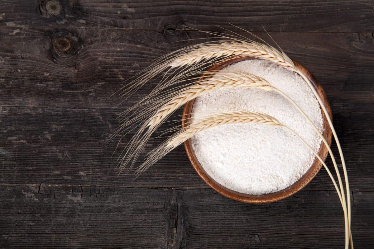Whole wheat flour and wheat placed on top, How Long Does Whole Wheat Flour Last?
