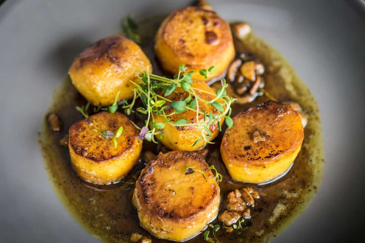 Cider fondant potatoes with thyme