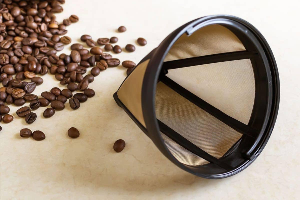 Reusable metal mesh coffee filter for drip coffee maker