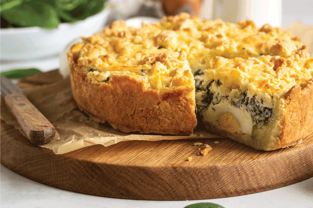 Tart or pie with spinach, ricotta and eggs. Torta Pascualina. Does A Quiche Have To Be Refrigerated