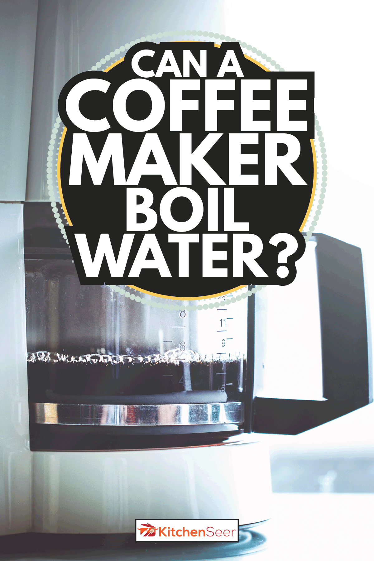 Black coffee machine in modern kitchen from side view. Can A Coffee Maker Boil Water