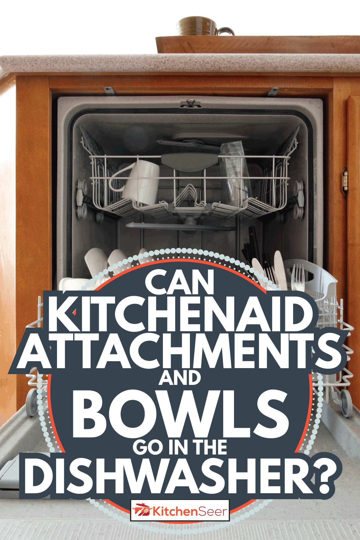Dishwasher with cleaned dishes inside, Can KitchenAid Attachments And Bowls Go In The Dishwasher