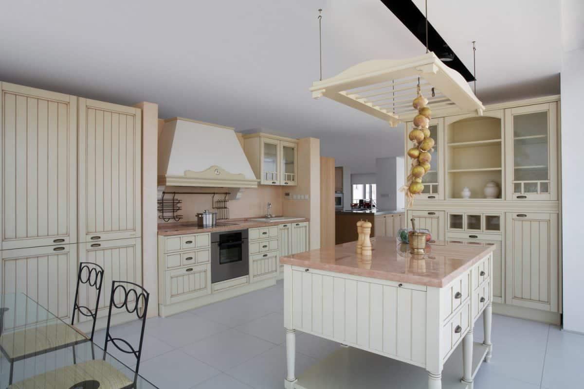 Modern gray kitchen interior