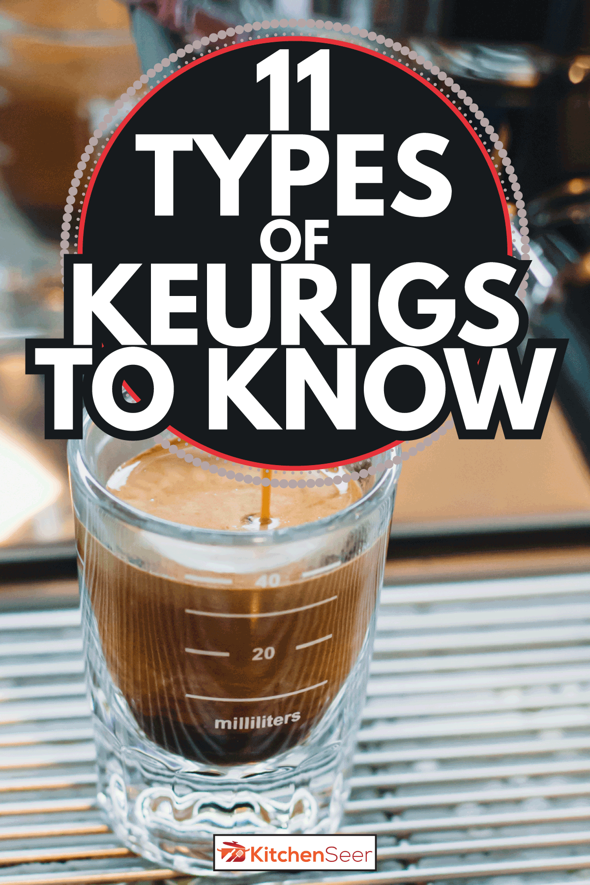 Pouring coffee in glass coffee cup, espresso machine. 11 Types Of Keurigs To Know