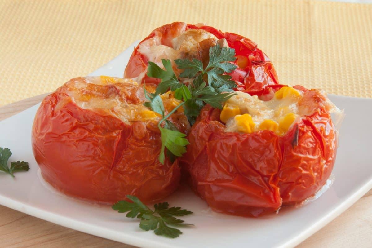Stuffed tomatoes closeup, Can You Microwave Tomatoes?