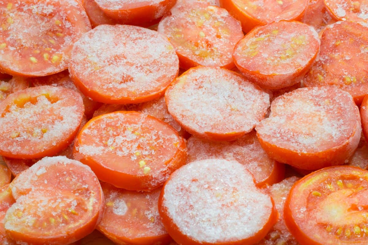 heat-and-eat red frozen tomatoes