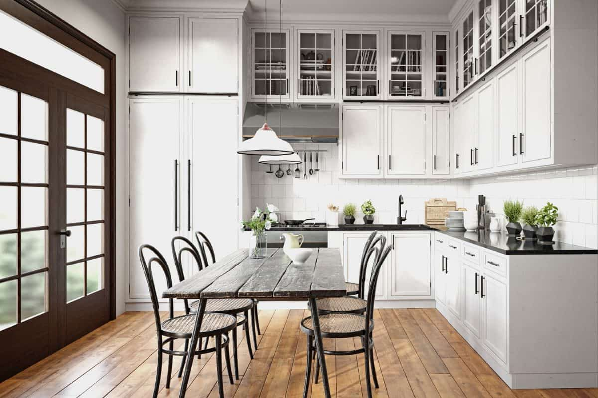 modern kitchen interior, How High Should Kitchen Wall Cabinets Be From The Floor?
