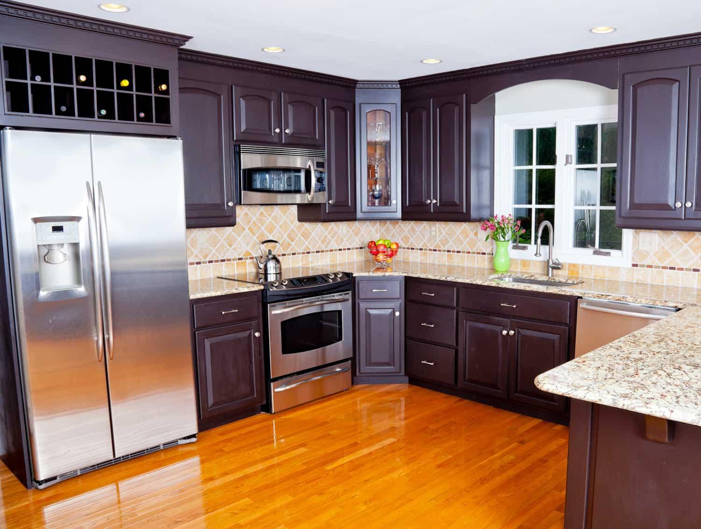 natural wood kitchen interior
