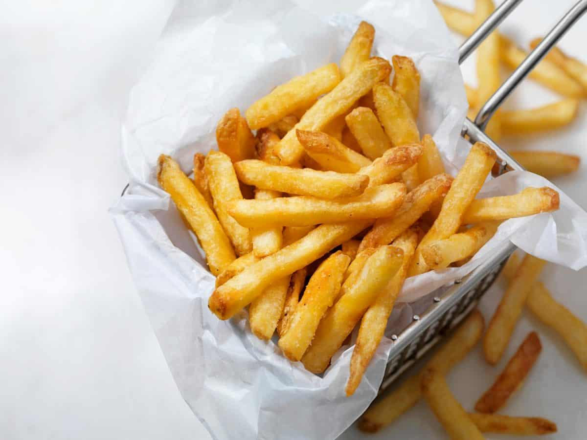 Air fried crispy french fries