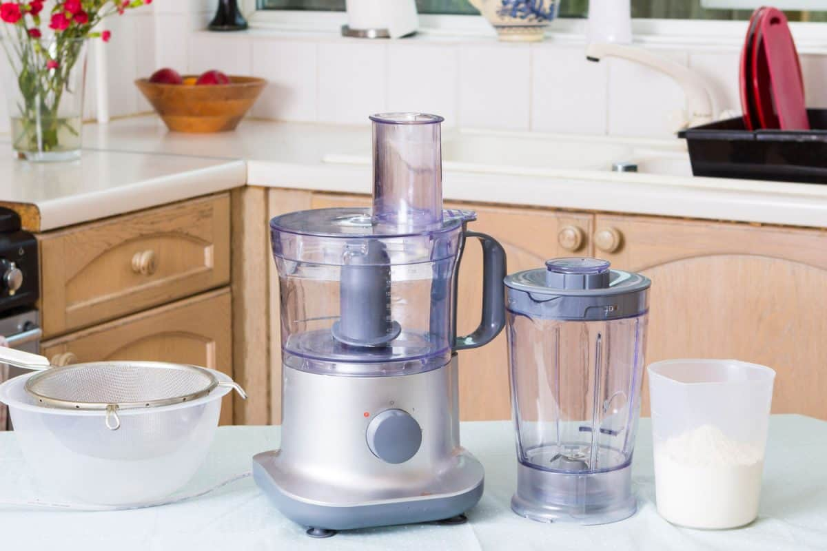 Food processor in kitchen table top, How Loud Is A Food Processor? [With Tips On How To Choose A Quiet One!]
