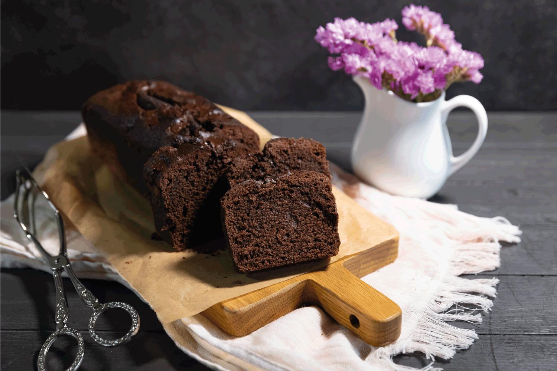 Homemade chocolate pastry for breakfast or dessert