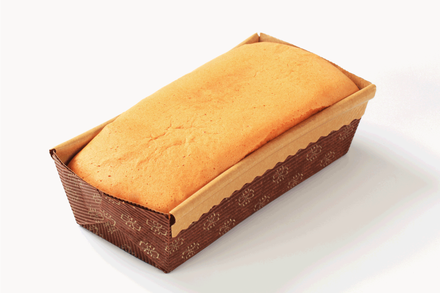 homemade sponge cake in paper loaf pan. Can You Bake A Cake In A Loaf Pan