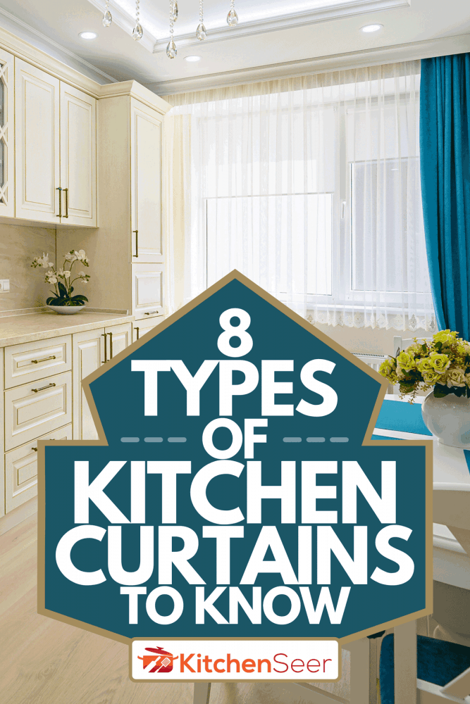 Contemporary classic kitchen interior designed in provence style, 8 Types Of Kitchen Curtains To Know