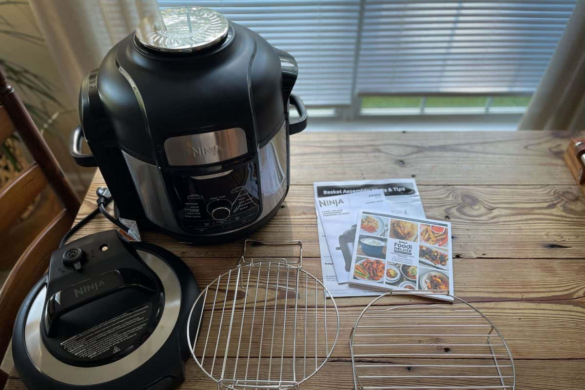 A Ninja Foodi Deluxe cooker on the table, Ninja Foodi Deluxe Product Review