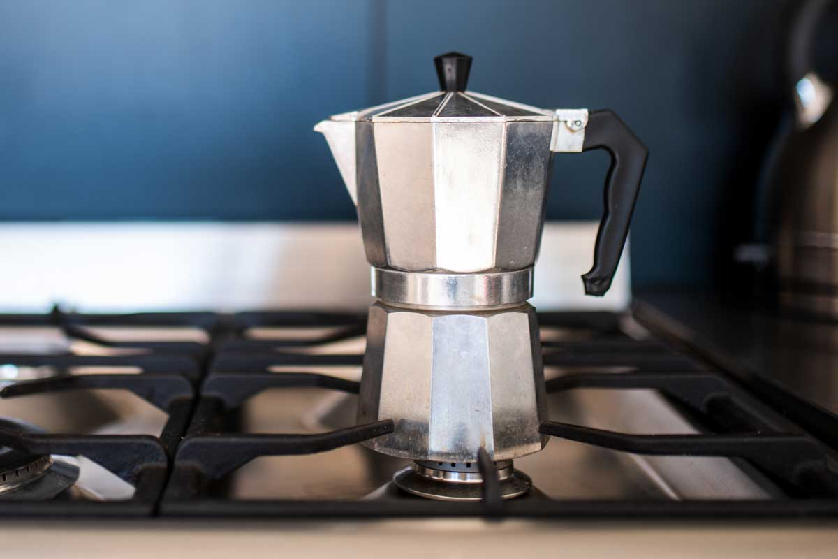 Close up of a coffee percolators on stove in the kitchen, 5 Best Stovetop Coffee Percolators To Consider