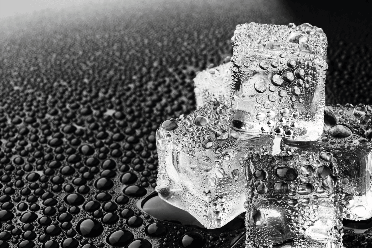 Cube ice on dark background. Can You Manually Fill An Ice Maker